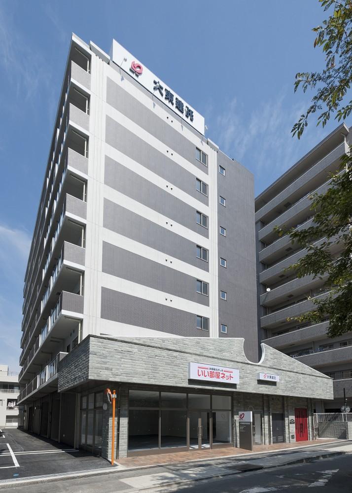打木義高様事務所付共同住宅新築工事 リヴィエールプラス 竣工写真 南側外観