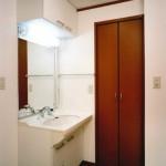 建築主住居:洗面室